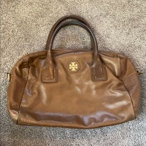 Tory Burch Brown Leather Satchel